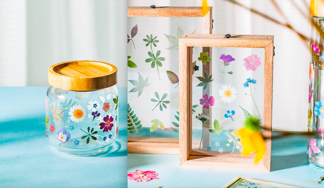 Pressed Flowers Small Jar & Photo Frame Gift Set