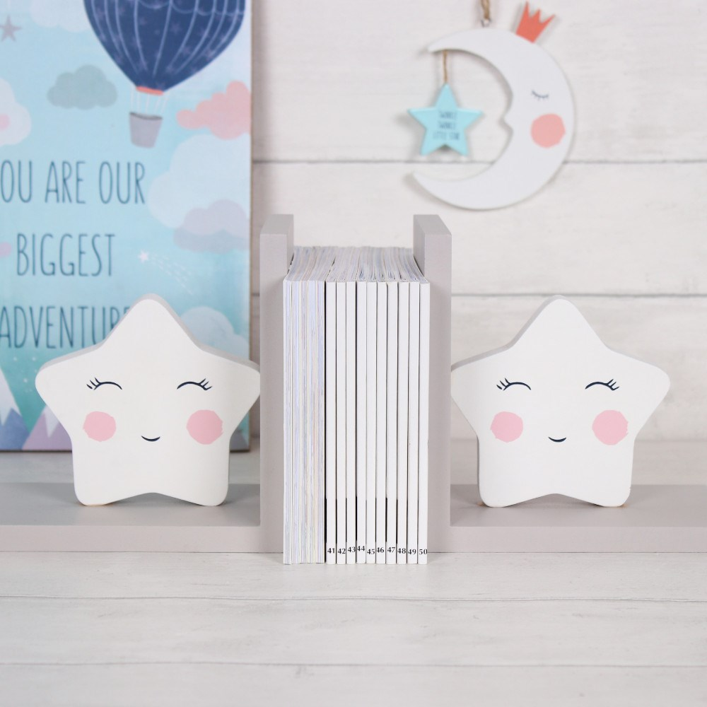 Beautiful Star Bookends