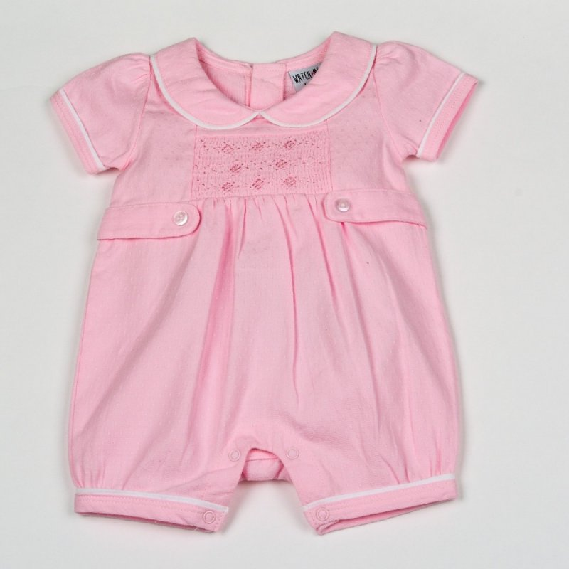 0-3 Months:Gorgeous Baby Girls Pink Spanish Style Romper