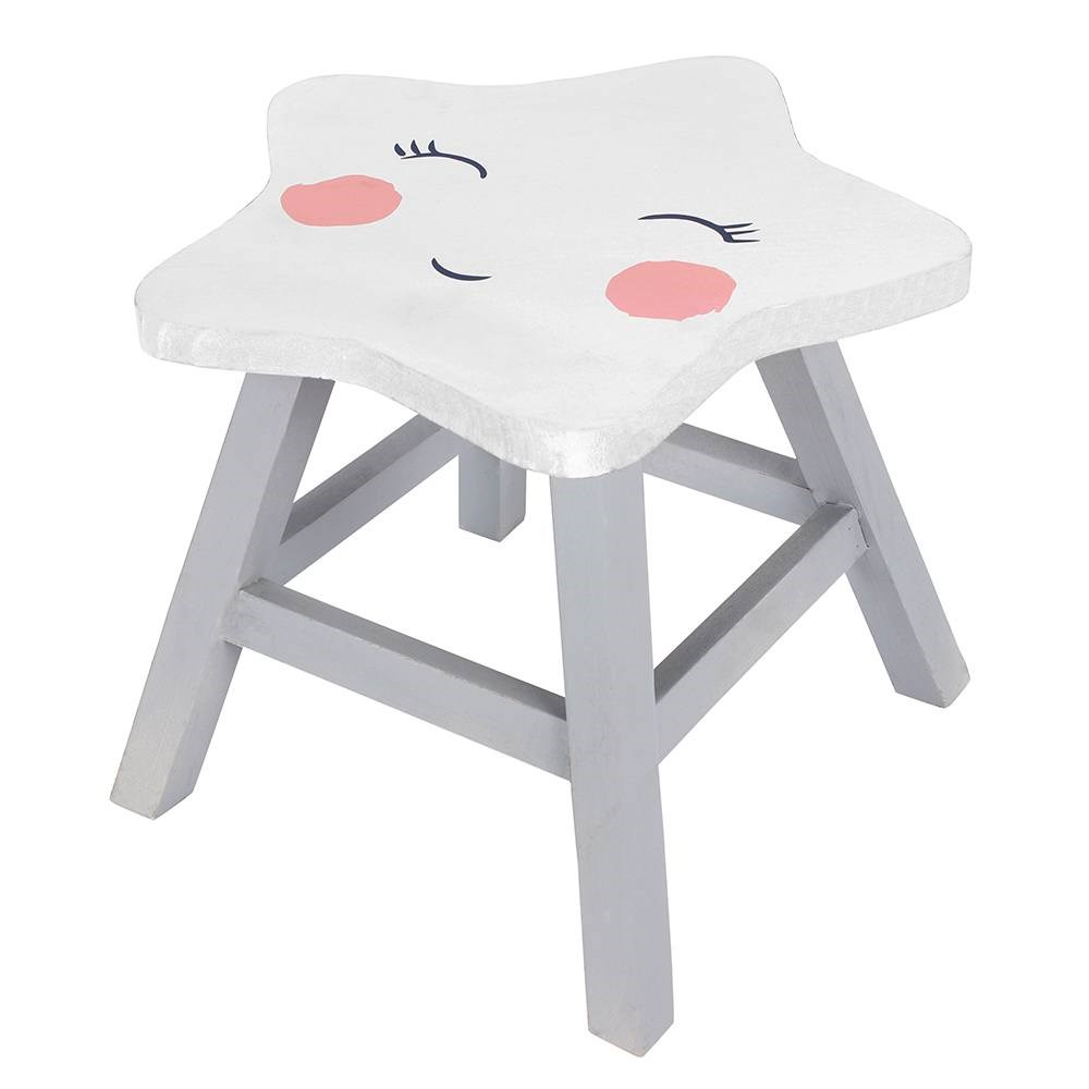 Cute Star Stool Chair Nursery Decor