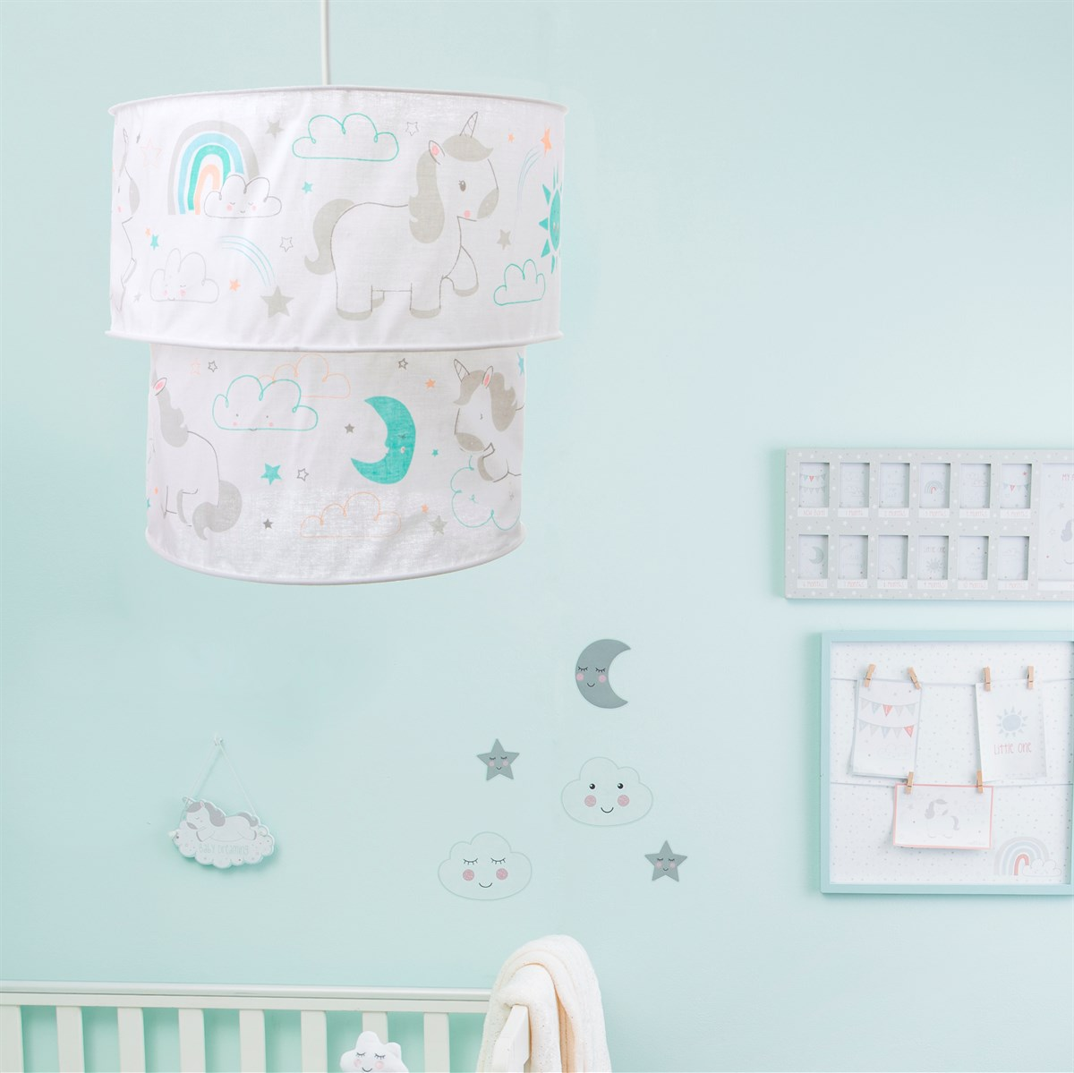 Pretty Pastel Unicorn 2 Tier Lampshade